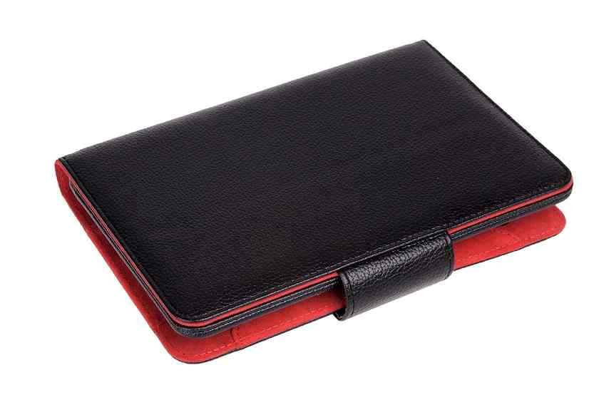 Funda Universal Phoenix Para Tablet Ebook Hasta 6 Negra Simil Piel