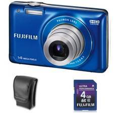 Kit Camara Digital Fujifilm Finepix Jx500 Azul 14 Mp Zo X 5 Hd Lcd 27 Litio   Funda   Sd 4gb