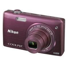 Kit Camara Digital Nikon Coolpix S5200 Purpura