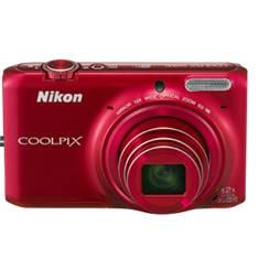 Kit Camara Digital Nikon Coolpix S6500 Rojo