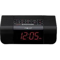 Radio Reloj Despertador Nevir Nvr-332 Negro Sintonizador Digital 7 Display Digital
