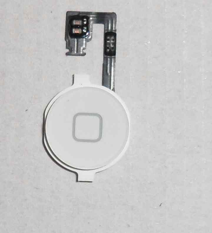 Repuesto Boton Home Flex Apple Iphone 4g Blanco