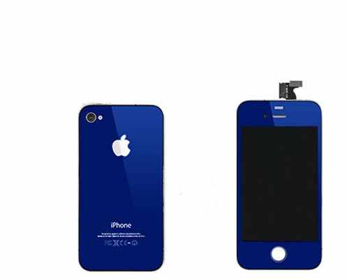 Repuesto Housing Completo Apple Iphone 4s Azul Oscuro