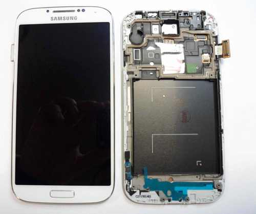 Ver REPUESTO PANTALLA LCD TOUCH FRAME MARCO  SAMSUNG GALAXY S4 I9500 BLANCO