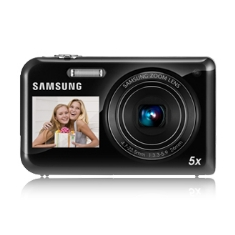 Camara Digital Samsung Pl170 Doble Pantalla 16mp  5x Negro