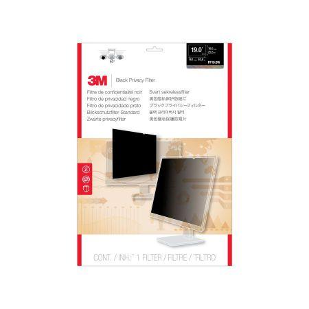 3M Filtro de privacidad PF190W de para monitor de escritorio LCD con pantalla panoramica de 19