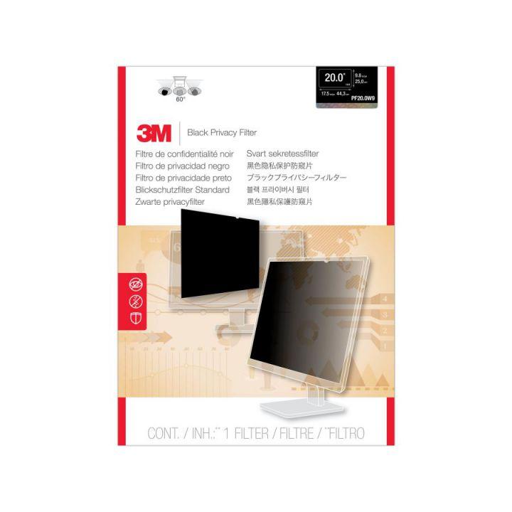 Ver 3M Filtro de privacidad PF200W9 de para monitor de escritorio LCD con pantalla panoramica de 20
