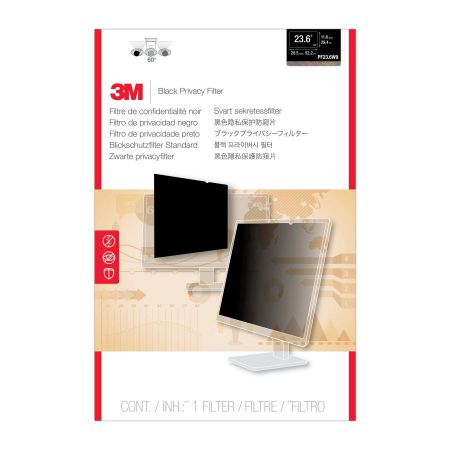 3M Filtro de privacidad PF236W9 de para monitor de escritorio LCD con pantalla panoramica de 23 6