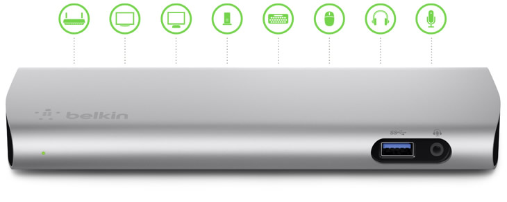 Ver BELKIN F4U085VF Base dock Thunderbolt 2 Express HD