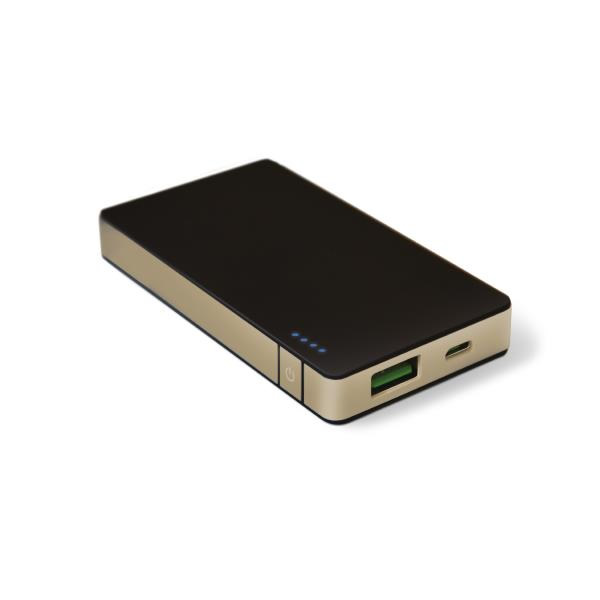 Ver CELLY PREMIUM POWER BANK 4000 mAh ALUMINIO DORADO