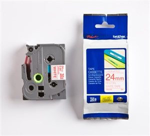 Cinta Rotuladora Brother Tze252 Blanco Rojo24