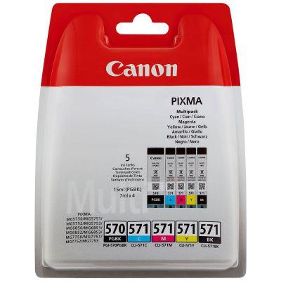 Ver Canon CLI 571 Multipack 7ml 15ml Negro Cian Amarillo
