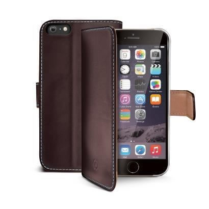 Ver Celly PELLEIPH6PBR Funda marron cuero Iphone 6 Plus