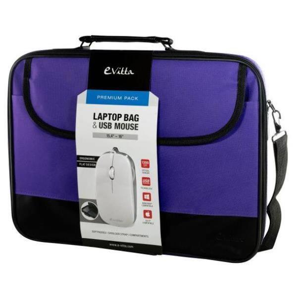 E Vitta Laptop Bag Premium Pack 16 Purpura