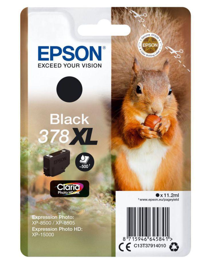Epson Singlepack Black 378XL Claria Photo HD Ink 112ml Negro 500paginas