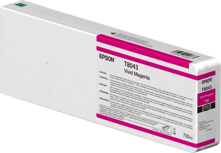Epson Singlepack Vivid Magenta T804300 UltraChrome HDX