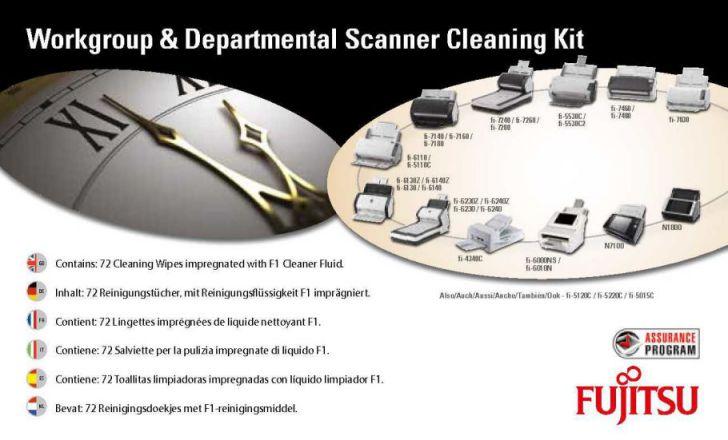 Fujitsu SC CLE WGD Escaneres Equipment cleansing wet cloths kit de limpieza para computadora