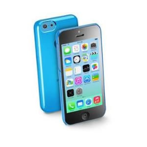 Funda Iphone 5c Cellular Line Azul Plastico
