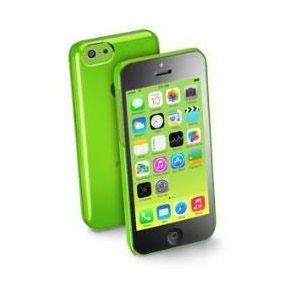 Funda Iphone 5c Cellular Line Verde Plastico