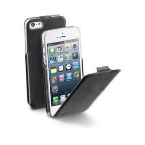 Funda Iphone 5 Negra Cellular Line Flapslimiphone5bk