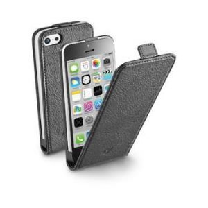 Funda Iphone 5c Negra Cellular Line Flapessiph5cbk