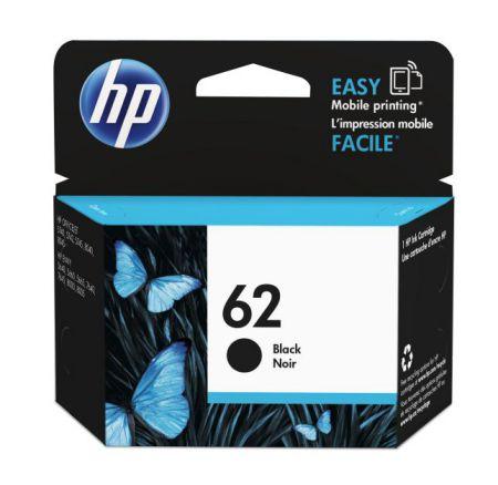 HP 62 Black Ink Cartridge 4ml 200paginas Negro