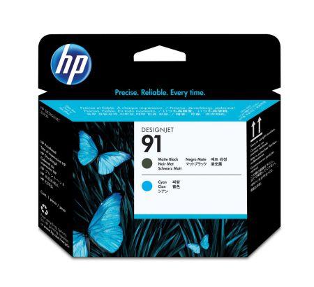 HP Cabezal de impresion 91 negro mate y cian cabeza de impresora