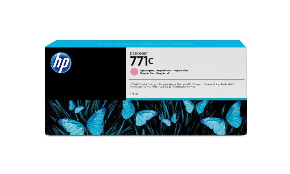 HP Cartucho de tinta DesignJet 771C magenta claro de 775 ml