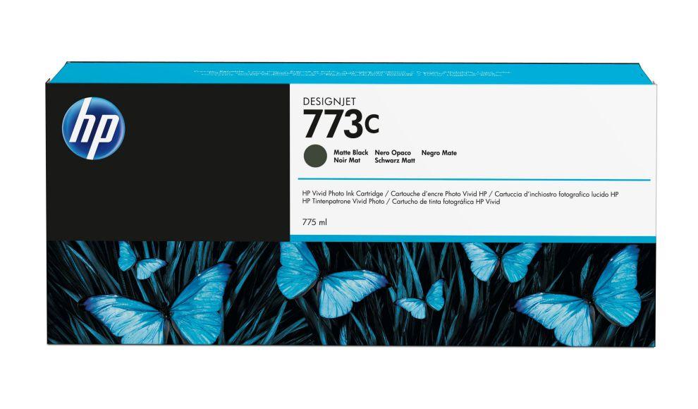 HP Cartucho de tinta DesignJet 773C negro mate de 775 ml