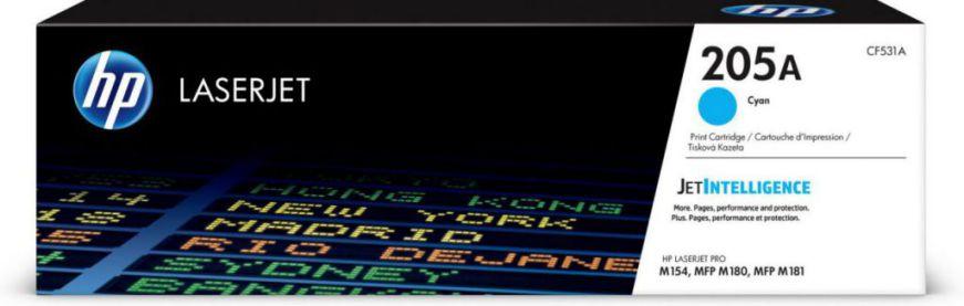 HP Cartucho de toner Original LaserJet 205A cian