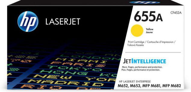 HP Cartucho de toner Original LaserJet 655A amarillo