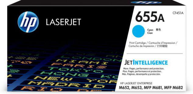 HP Cartucho de toner Original LaserJet 655A cian