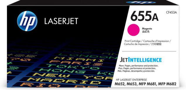 HP Cartucho de toner Original LaserJet 655A magenta