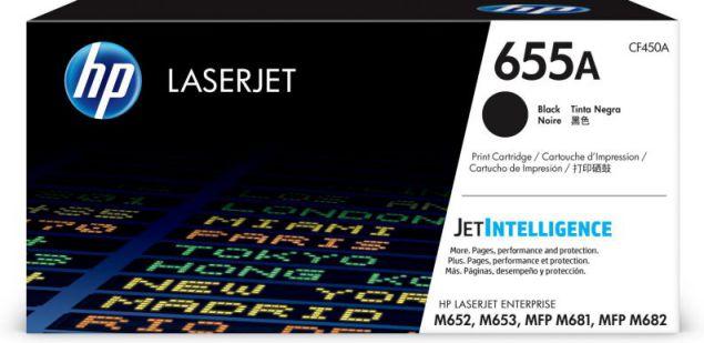 HP Cartucho de toner Original LaserJet 655A negro