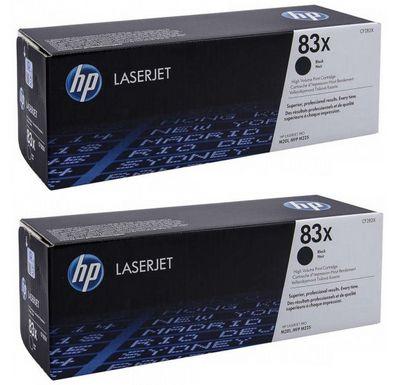 HP Paquete de 2 cartuchos de toner negro Originales LaserJet 83X de alta capacidad