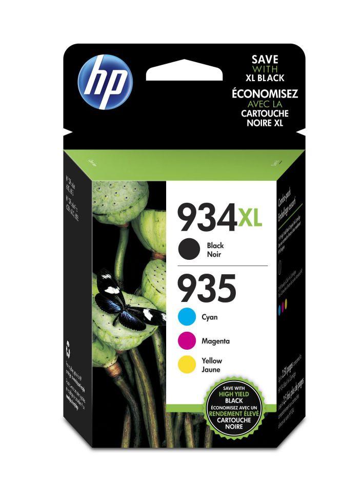 Ver HP Paquete de ahorro de 4 cartuchos de tinta Original 934XL de alta capacidad negra