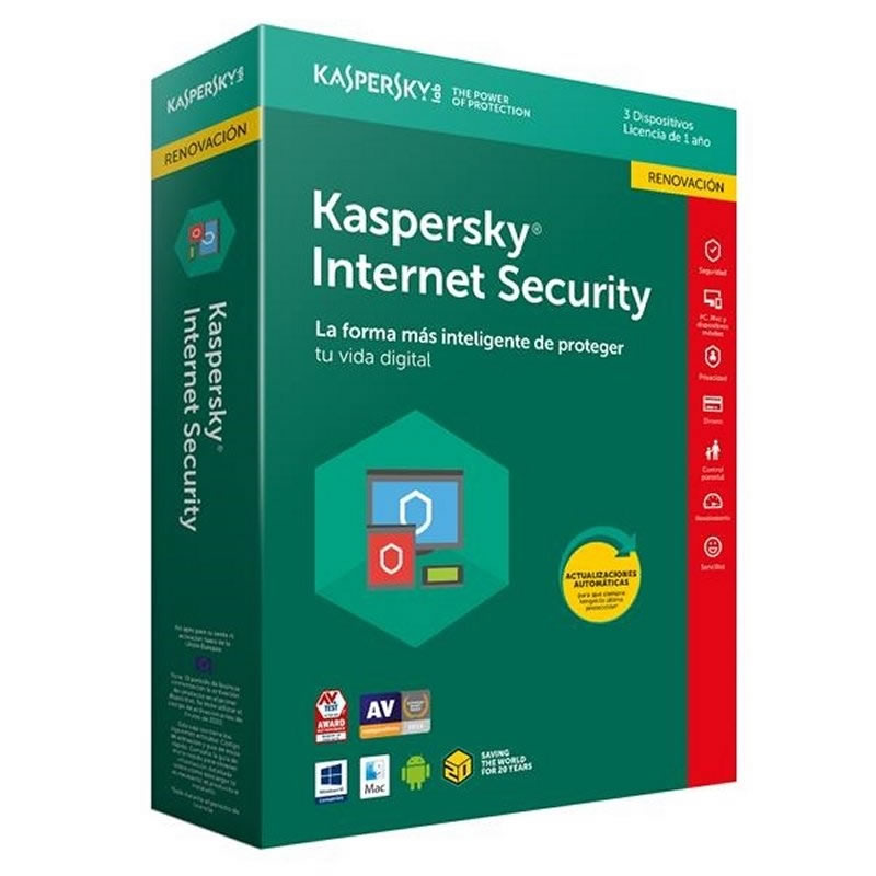 Ver Kaspersky Internet Security Multi Device 3L 1A RN