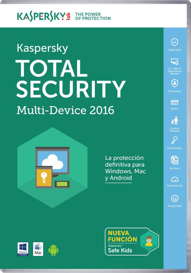Ver Kaspersky Lab Total Security Multi Device 2016