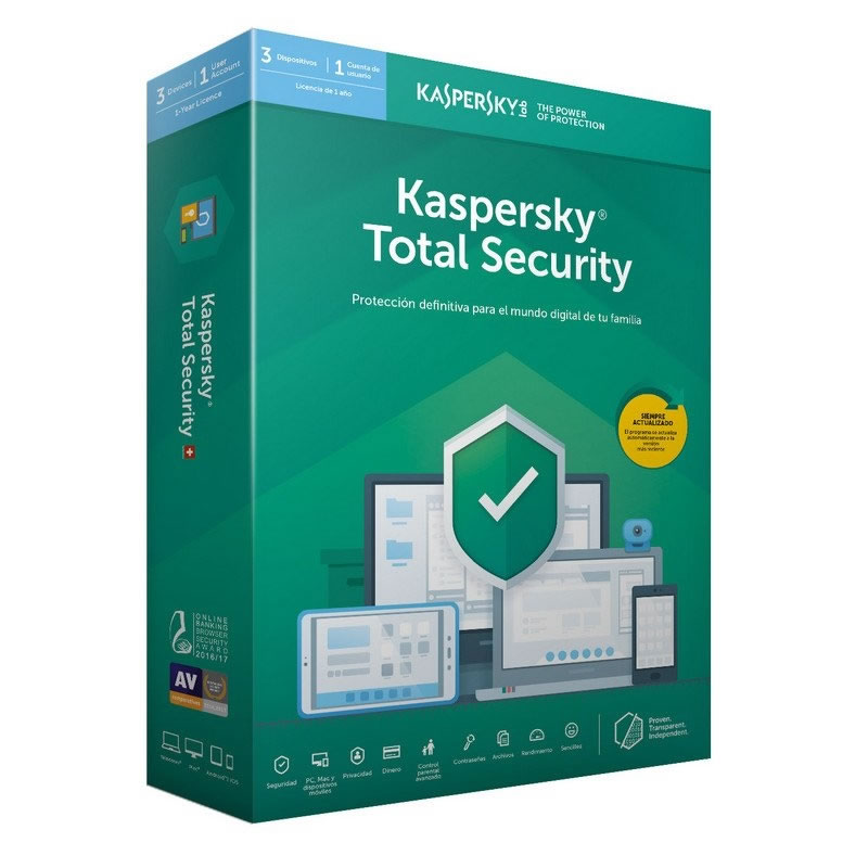Kaspersky Total Security MD 2019 3 LICENCIAS