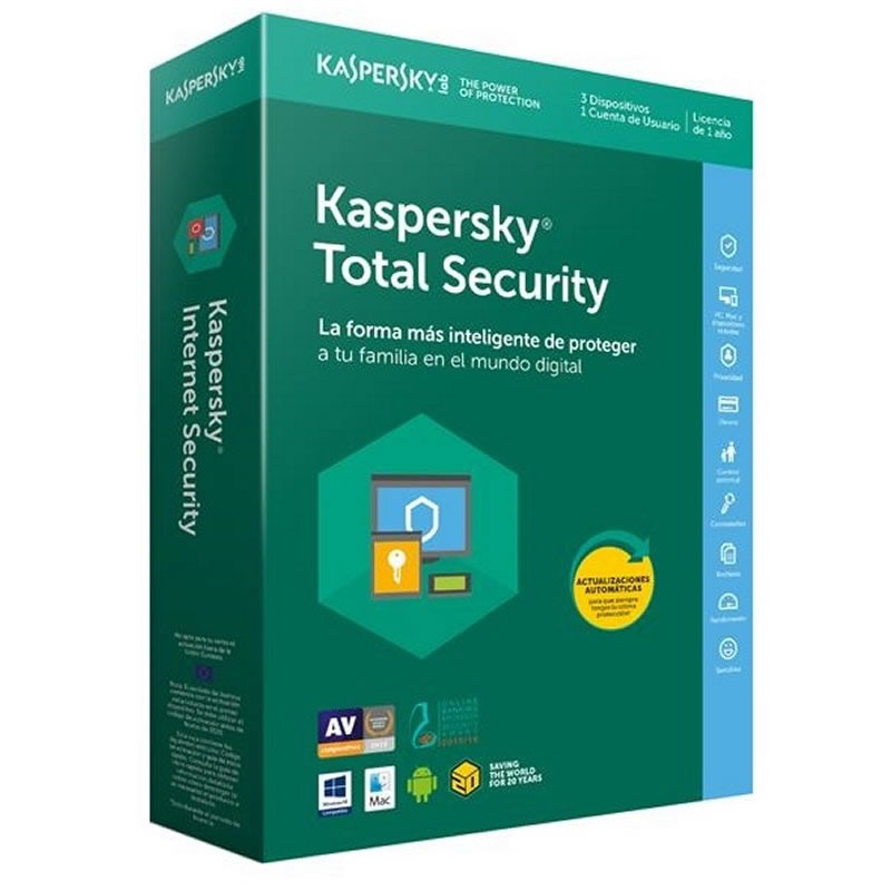 Ver Kaspersky Total Security Multi Device 3L 1A