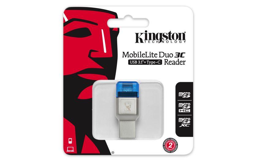 Kingston Mobilelite Duo 3c Usb 3 0 3 1 Gen 1 Type A
