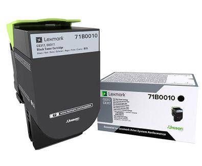 Lexmark 71B0010 Laser toner Negro toner y cartucho laser