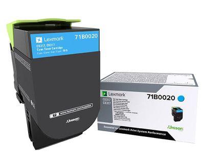 Lexmark 71B0020 Laser toner Cian toner y cartucho laser