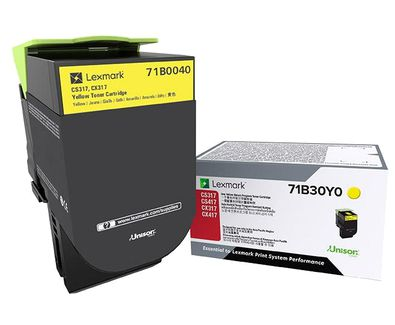 Lexmark 71B0040 Laser toner Amarillo toner y cartucho laser