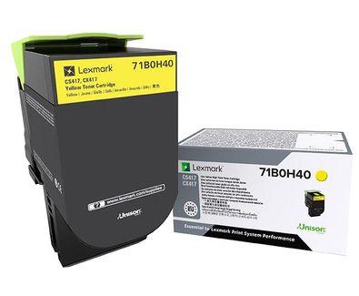 Lexmark 71B0H40 Laser toner Amarillo toner y cartucho laser
