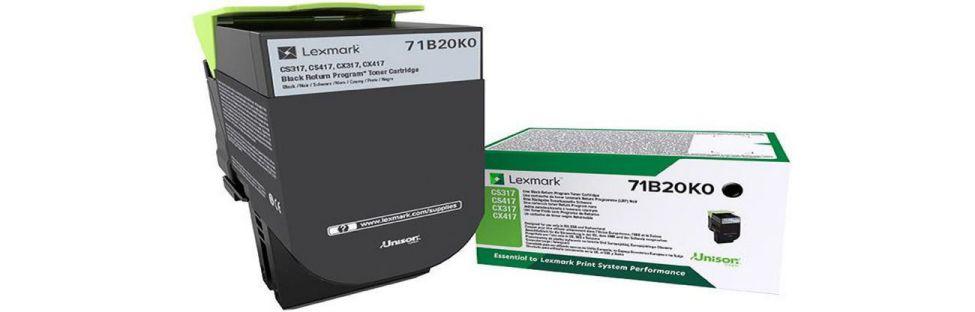 Lexmark 71B20K0 Laser toner 3000paginas Negro toner y cartucho laser