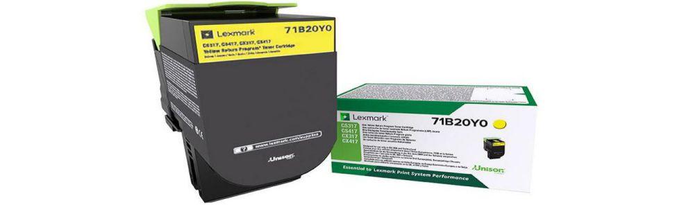 Lexmark 71B20Y0 Laser toner 2300paginas Amarillo toner y cartucho laser