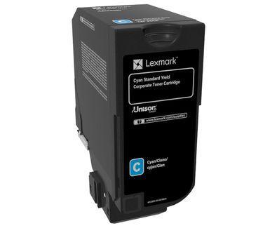 Lexmark 74C2SCE Cartucho Cian toner y cartucho laser