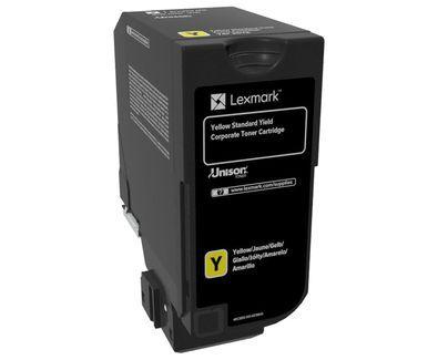 Lexmark 74C2SYE Cartucho Amarillo toner y cartucho laser