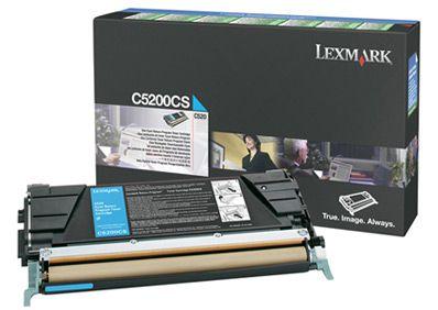 Lexmark C5200CS Cartucho 1500paginas Cian toner y cartucho laser